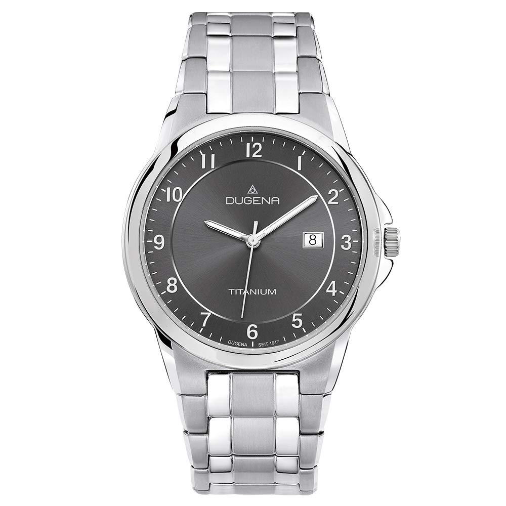 Dugena Dugena Basic 4460513 - Reloj analógico de cuarzo para hombre, correa de titanio