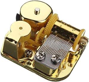 18 Note Windup Gold Plating Clockwork Mechanism DIY Music Box Figurines Movement (La Vie en Rose)