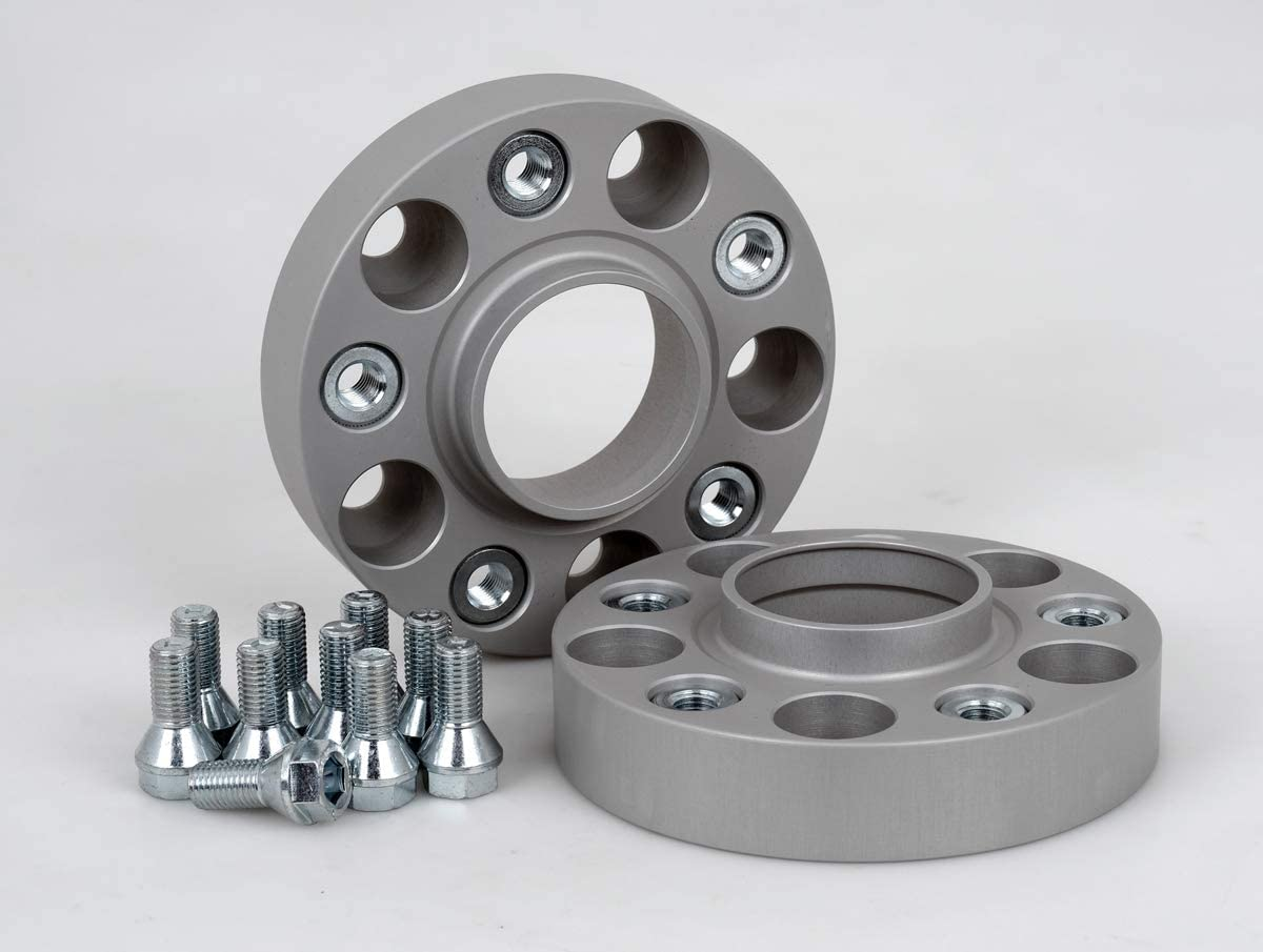 Spurverbreiterung Aluminium 2 St/ück inkl T/ÜV-Teilegutachten /& ABE 25 mm pro Scheibe // 50 mm pro Achse