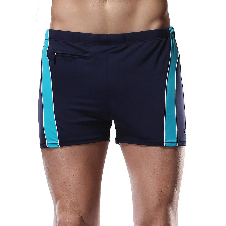 Charmleaks Mens Jammers Swimsuit Trunks Pack Cotton Trunk Underwear Swimwear swimsuit for men, 32-34, Blue by CharmLeaks