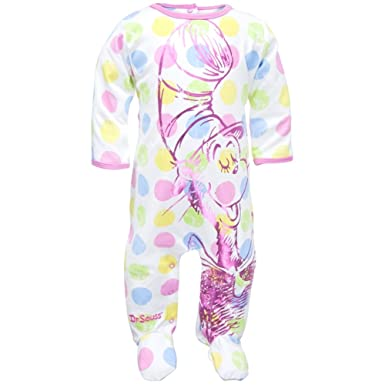 73372f37c678 Amazon.com  Dr. Seuss - Baby-girls Big Cat Infant Footed Pajamas 6 ...