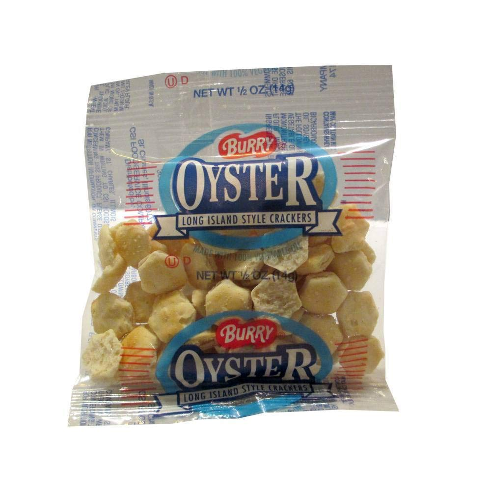 Burry Small Oyster Crackers - 0.5 oz. bag, 150 per case by Burry Foodservice