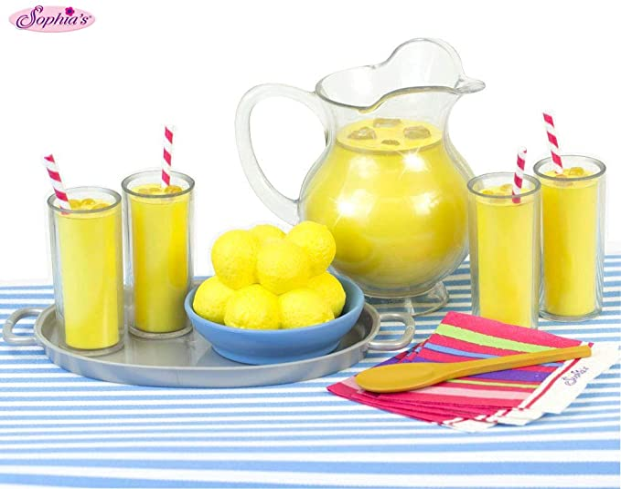 5X1:12 Dollhouse Miniature Food Lemon Tea Cups Doll House Drinks Model
