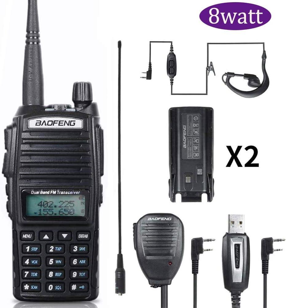 BaoFeng Radio BaoFeng UV-82 High Power 8W Ham Radio Dual Band Amateur BaoFeng Walkie Talkies Portable 2 Way Radio