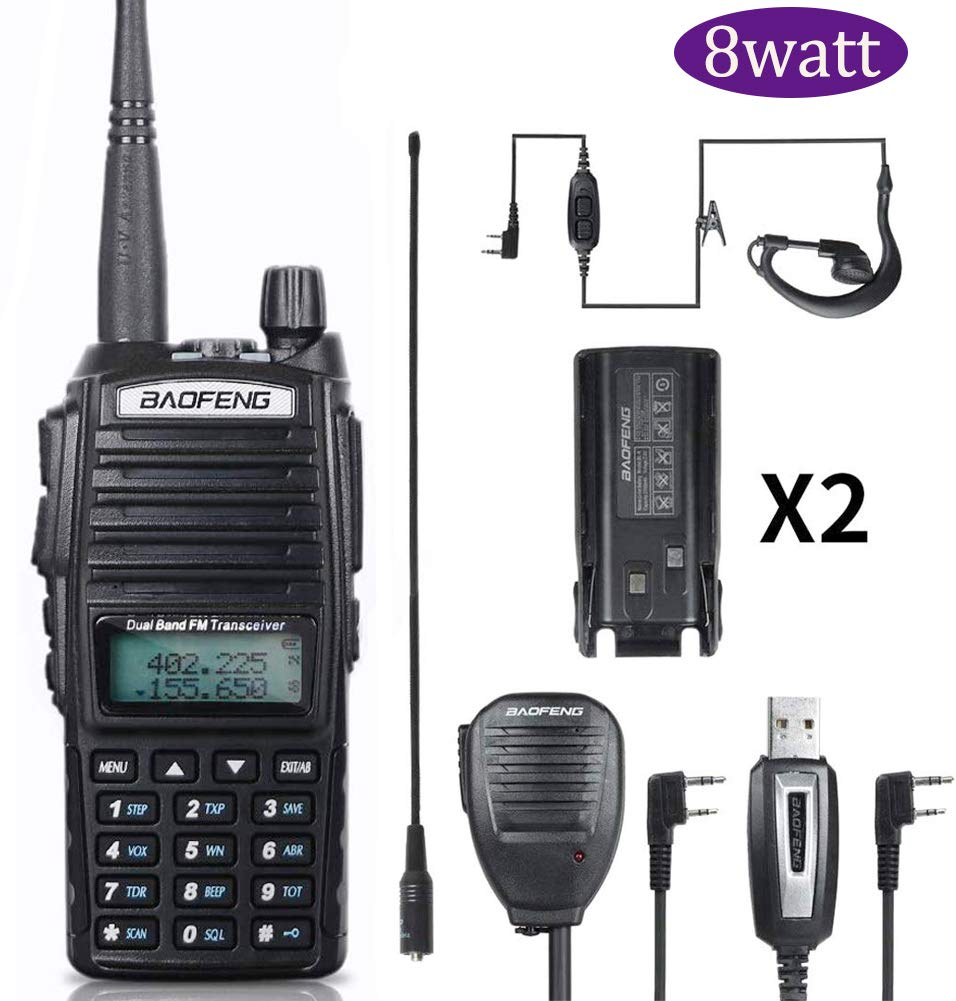 BaoFeng Radio BaoFeng UV-82 High Power 8W Ham Radio Dual Band Amateur BaoFeng Walkie Talkies Portable 2 Way Radio by BAOFENG