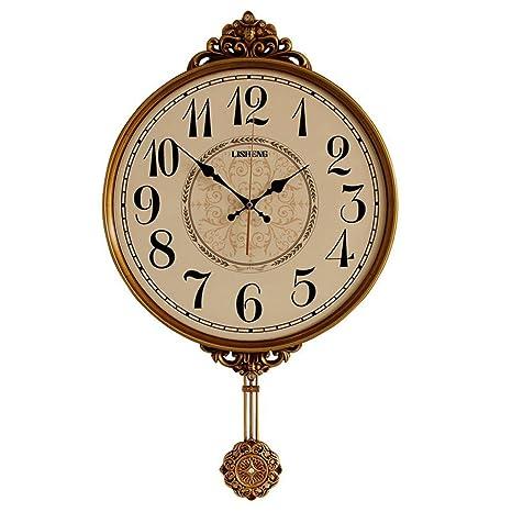 Artes reloj de pared Reloj de péndulo Minimalista Retro Reloj de Pared Creativo Sala de Estar