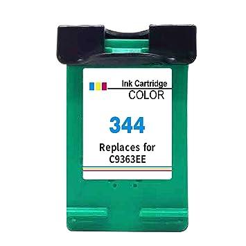 Kyansin Cartucho de Tinta HP 344 XL remanufacturado (C9363EE) Tintas de Impresora de Alto Rendimiento para HP Deskjet 460 460c 460cb 460wbt, 1 Paquete ...