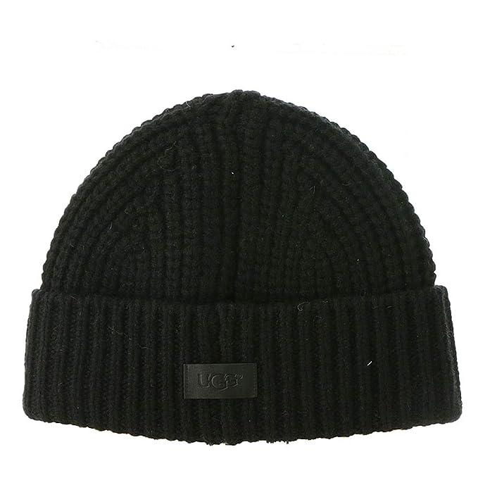 UGG Men s Fisherman s Knit Beanie Black One Size at Amazon Men s ... 3359087c8a3