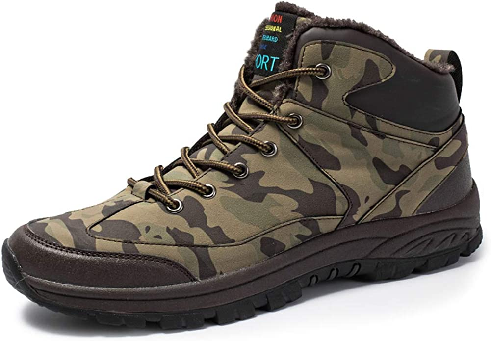 Mens Snow Boots Waterproof Outdoor Hiking Shoes Ankle Sneakers STEELEMENT