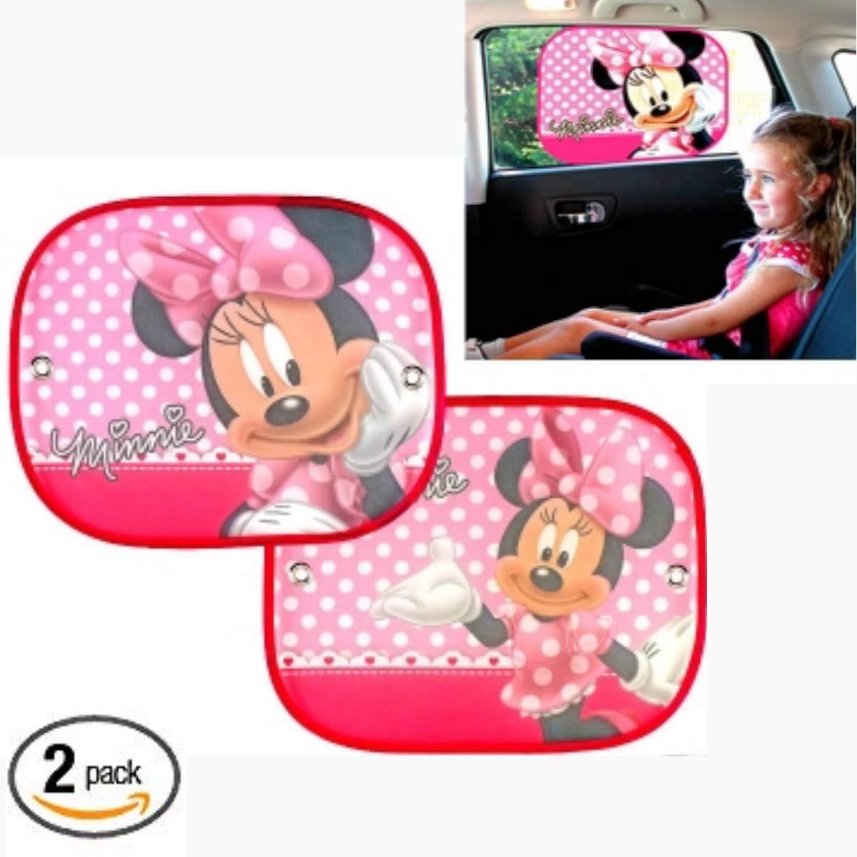 Minnie The Mouse Parasole per Auto Disney Mickey Mouse 2 Pezzi Parasole per finestrini dellauto  Protezione per Raggi solari abbaglianti e Raggi UV per Il Tuo Bambino 44x36 cm