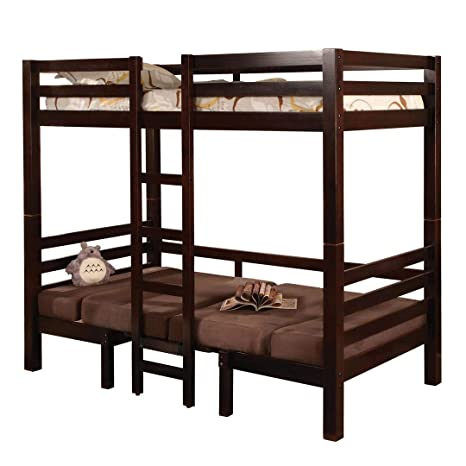 new products e1324 9f733 Joaquin Twin over Twin Convertible Loft Bed Brown