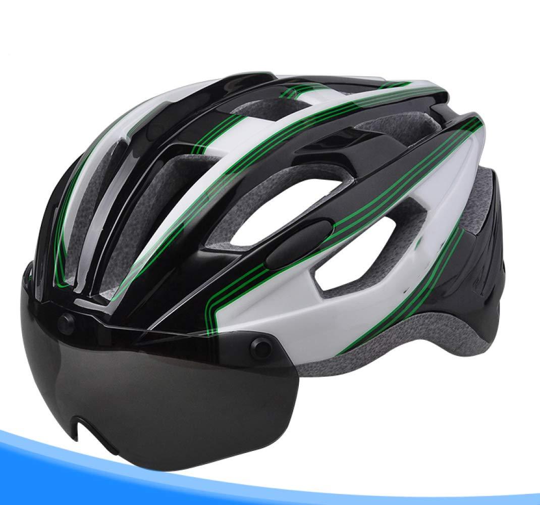 BOC Casco De Bicicleta Czz con Gafas Integradas Sombrero De ...