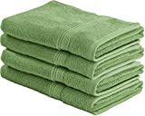 Utopia Towels Cotton Large Hand Towels (Sage Green, 4-Pack,16 x 28 inches)...