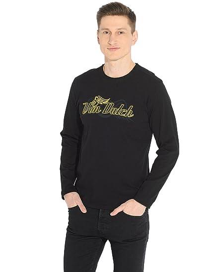 86783cbee6730 Von Dutch T-Shirt à Manches Longues - À Logo - Col Chemise Classique ...