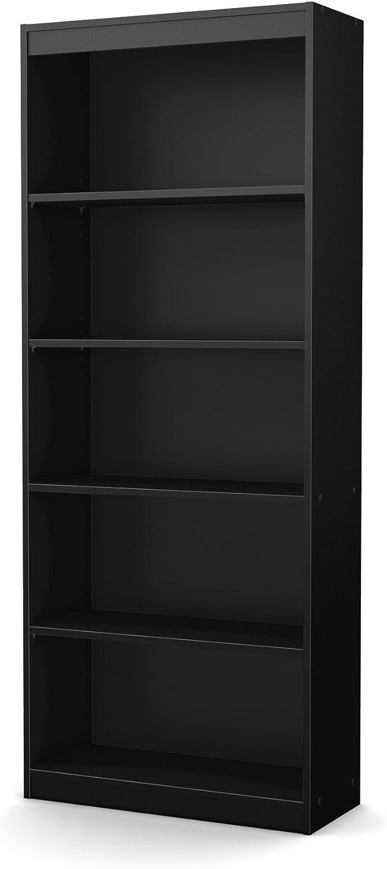 South Shore Axess Collection 5-Shelf Bookcase, Black