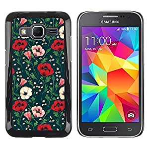 Design for Girls Plastic Cover Case FOR Samsung Galaxy Core Prime Floral Flowers Green OBBA