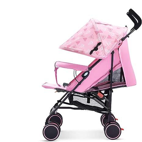 Cochecito, Barato Unisexo Dos Camino Cochecitos Bebé Niños pequeños Recién nacido Prams Doblez Reclinable (