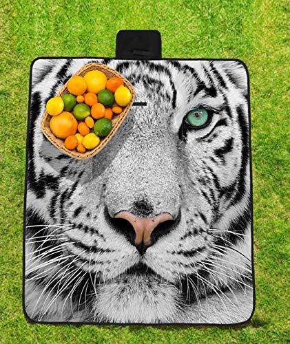 DKSANJ Tiger Face Poliéster Completo Impermeable Oxford Tela ...