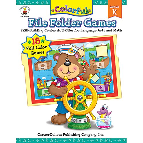 Carson-Dellosa Publishing Colorful File Folder Games, Grade K