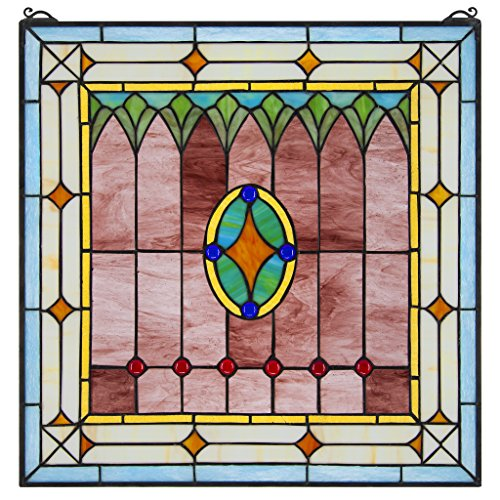 Stained Glass Panel - Craftsman Stained Glass Window Hangings - Window Treatments