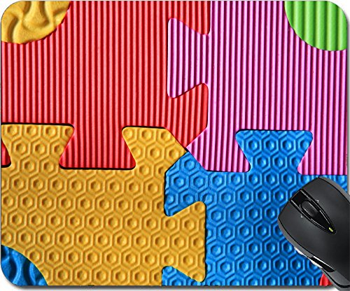 Price comparison product image MSD Natural Rubber Mousepad Mouse Pads/Mat design 26403768 Colorful jigsaw foam texture for children play