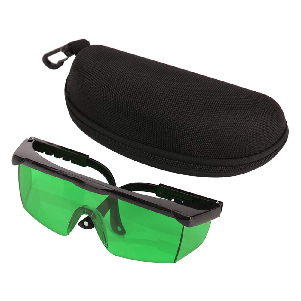 Gafas para mejorar el láser, gafas de plástico para visibilidad láser para nivel láser, o para usar en gafas normales(Verde)