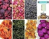Dried Edible Flower Kit- Lavender, Rose bud, Calendula Marigold, Hibiscus Petals, Globe Amaranth, Green Tea. Bulk Flower to make botanical Oil