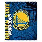 NBA Golden State Warriors Hard Knocks Printed Fleece Throw, 50-inch by 60-inch