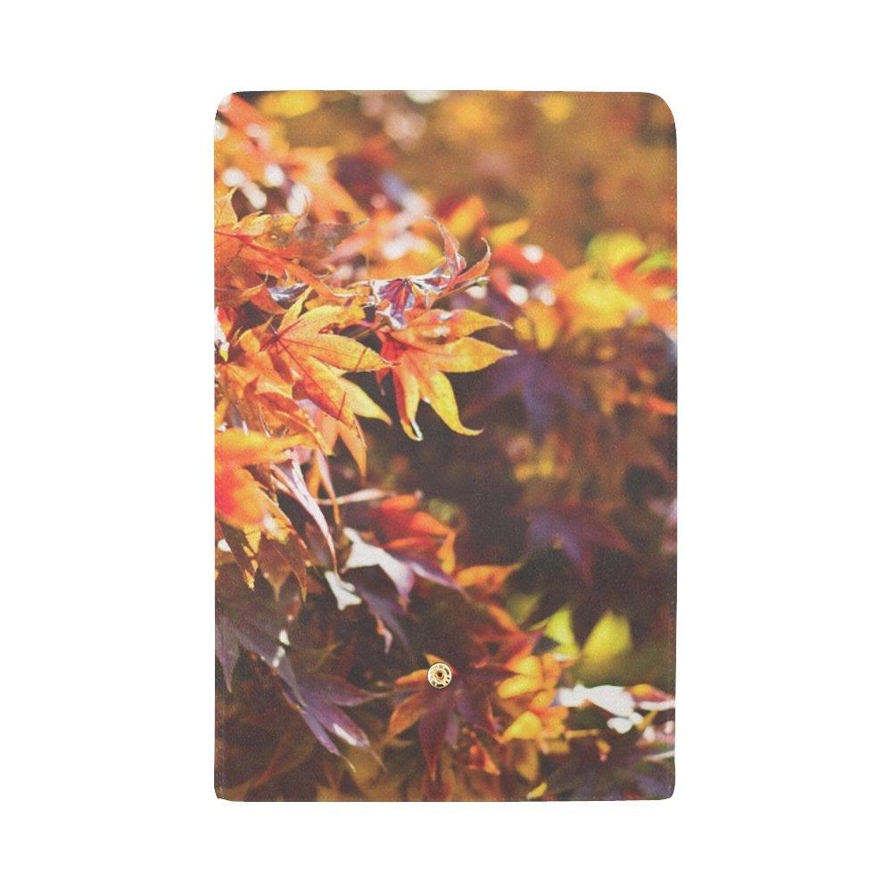 Leaves Leaf Fall Autumn Foliage Season Red Custom Womens Wallet Womens Trifold Wallet Long Purse Card Cases