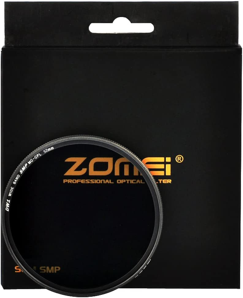 Zomei Slim Golden rimmed CPL Circular Polarizing Filter for Canon Nikon-52MM