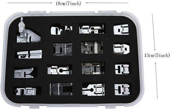 icase4u® Kit de 11/15 Piezas Multifuncional Prensatelas Accesorios ...