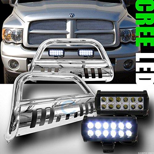 Velocity Concepts Chrome Bull BAR Bumper Guard V2+36W CREE LED Fog Lights 2002/2003-2009 Dodge RAM