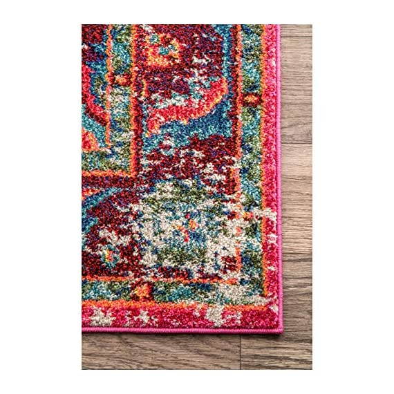 "nuLOOM Corbett Vintage Boho Runner Rug, 2' 6"" x 8', Multi - Made in Turkey PREMIUM MATERIAL: Crafted of durable synthetic fibers, it has soft texture and is easy to clean SLEEK LOOK: Doesn't obstruct doorways and brings elegance to any space - runner-rugs, entryway-furniture-decor, entryway-laundry-room - 61rSNtQhzAL. SS570  -"