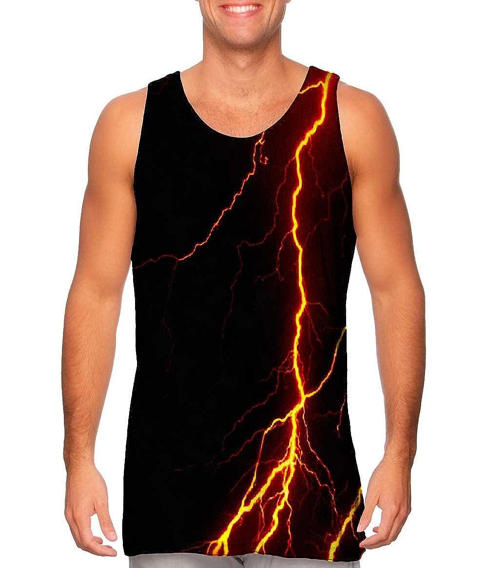 Yizzam Lightning Storm Orange Tshirt Mens Tank Top