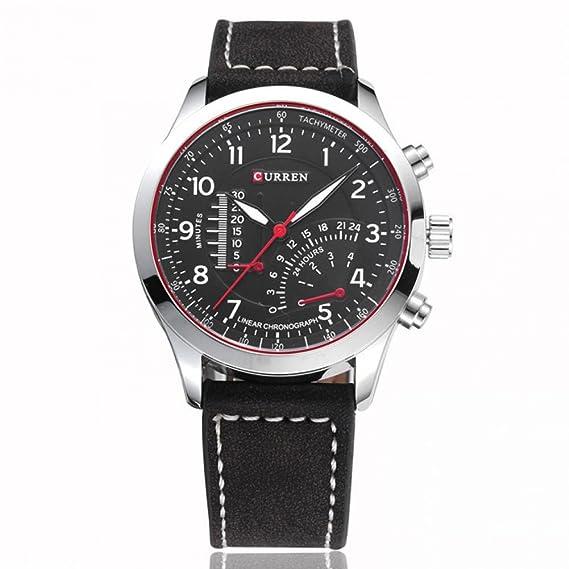 O cama de matrimonio Para Hombre marca Relojes Masculino Relogio Soki Fashion Relojes Casual Relojes de cuarzo de reloj Para Hombre de piel auténtica: ...