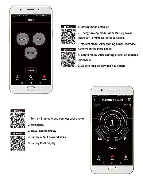 HOPELJ Patinete Scooter, E-Scooter Plegable, con Función App ...