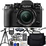 Fujifilm X-T2 - International Version (No Warranty) + Fujifilm XF 18-55mm R LM OIS + 3 Piece Filter Kit + 64GB SD Memory Card + Medium Carrying Case + Pistol Grip Tripod + 72 Tripod & More!