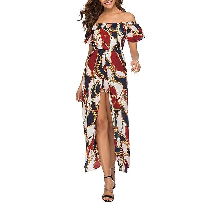 f96a82291397 Btruely Vestidos Mujer Casual Verano, Vestido Largo Floral Print ...