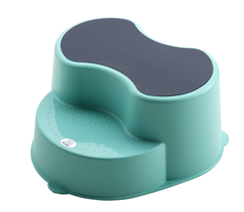 rotho babydesign top - children step stools (blue, monotone, polypropylene (pp), germany) 20005 0235