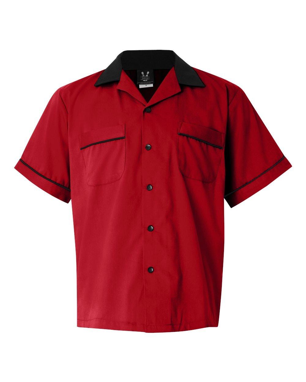Hilton Mens Bowling Retro Gm Legend, Red/Black, Small