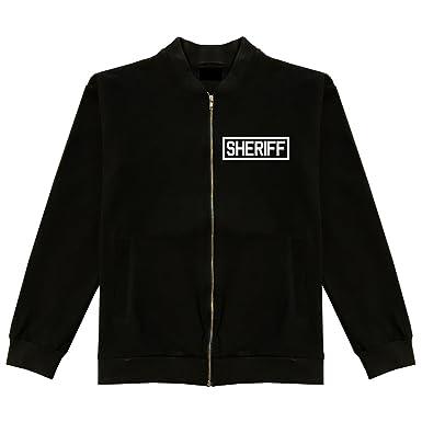 1396290215f Sheriff County Police Classic Bomber Jacket at Amazon Men's Clothing ...