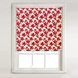 Large Poppy Thermal Blackout Roller Blind (2ft) by Barnes Textiles