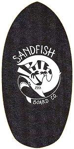 Sandfish Board Co. White Foam Traction Skimboard Cruiser 35, HSF-20-WHI-PRO-35