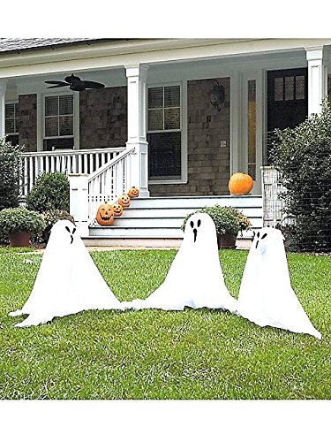 Small Light-Up Ghostly Group Decoration (Halloween Decorations Outside)