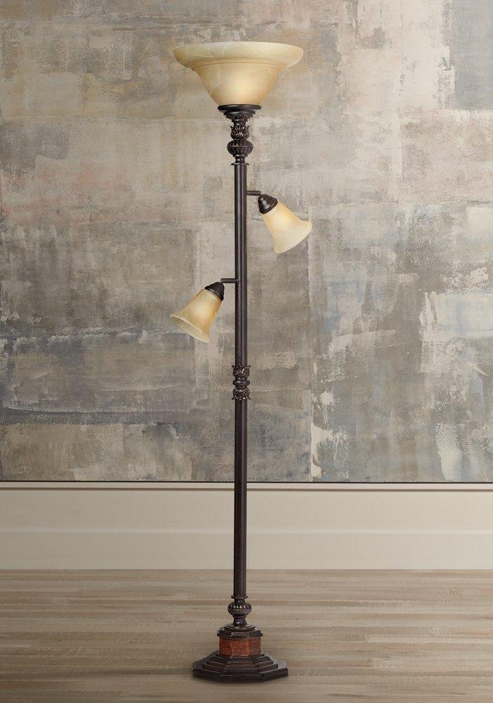 Kathy ireland sonnett 3 light torchiere floor lamp amazon aloadofball Gallery