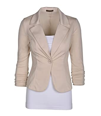 Veste blazer en coton femme