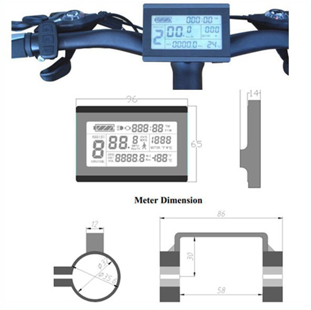 Nbpower 36v 48v 250w 15a Brushless Dc Motor Controller Ebike Bldc Electric Kt Lcd3 Display