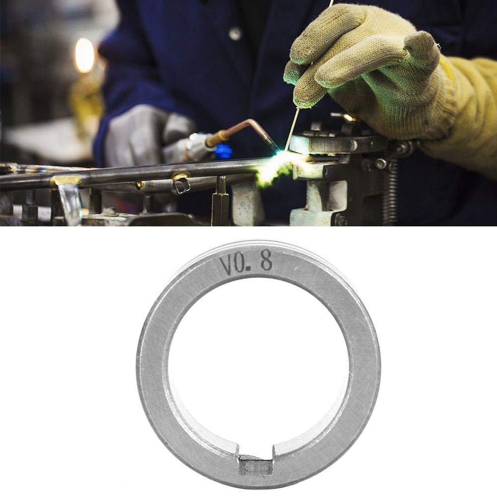 0,8-1,2 mm Zerone-Drahtvorschubrolle aus rostfreiem Stahl 0,8//1,0//1,2 F/ührungsrad f/ür Schwei/ßdraht in doppelter Gr/ö/ße