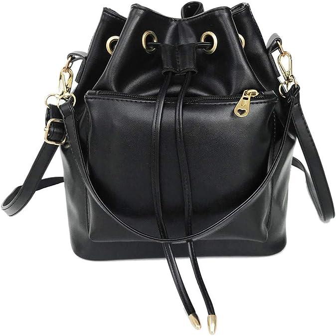 DUXX Mens Leather Briefcase Shoulder Handbag Cross-Body Genuine Leather Messenger Tote Bag