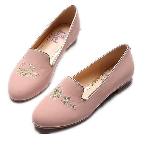 C. Wonder Time - Mocasines de Otra Piel para Mujer Rosa Rosa, Color Rosa, Talla 40 EU: Amazon.es: Zapatos y complementos
